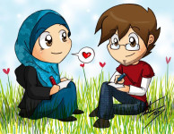 Muslim-Couple-Drawing-Together-Drawings-001